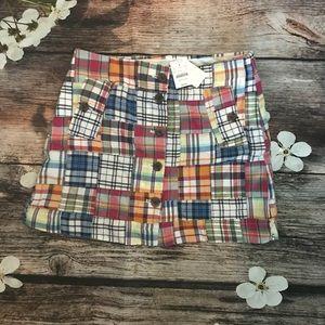 NWT J. Crew Factory Plaid Skirt